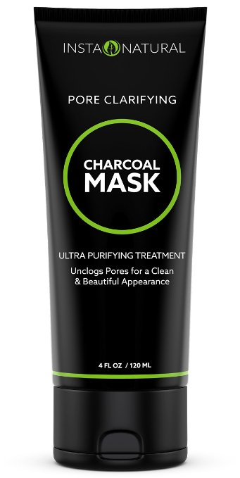 Instanatural Charcoal Clay Mask for Face