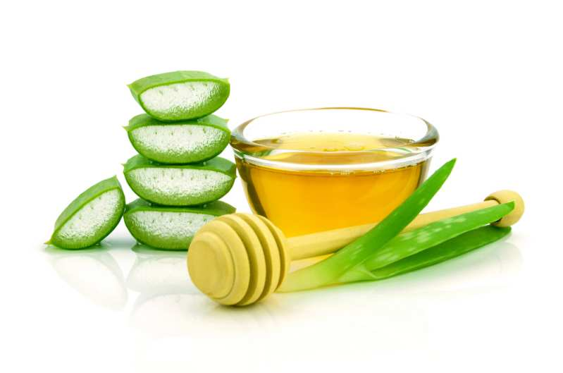 Aloe vera and olive oil